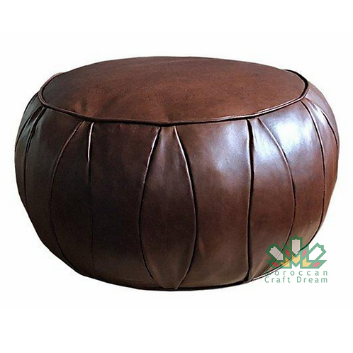 CLASSY LEATHER OTTOMAN CHOCOLATE CP3CH