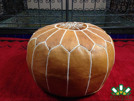 About the moroccan leather Poufs