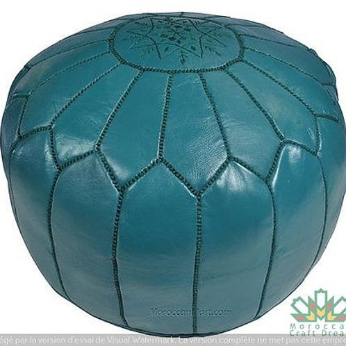LUXURY LEATHER OTTOMAN TEAL RP1TE