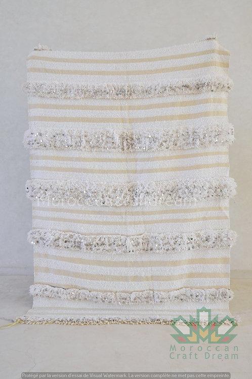 Handmade Moroccan Wedding Blanket Handira WHITE HB2WH