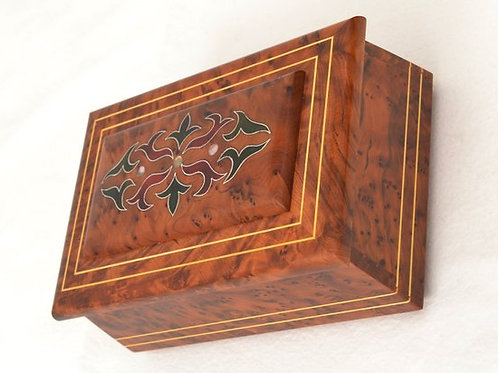 Moroccan Thuya Hand-Carved Box, Decorative Jewelry Box, Keepsake Box