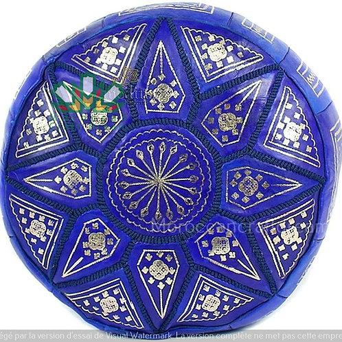 ARTSY LEATHER OTTOMAN FASSI BLUE P1BEFS