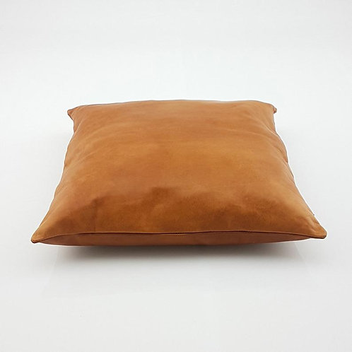 Leather Square Luxury Simple Pillow Caramel NP1CR