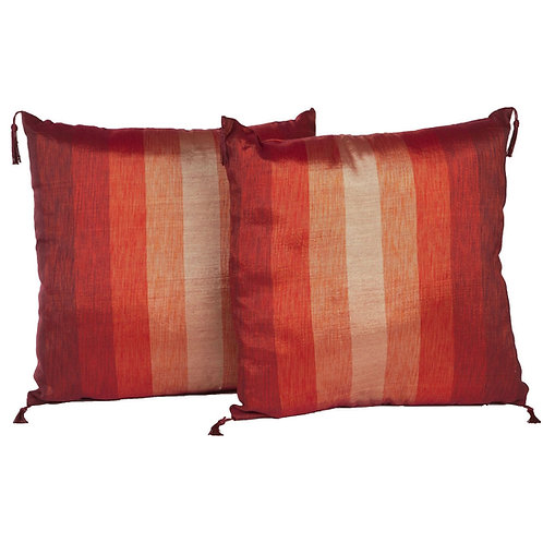 Sunset Stripes Pillow Pair