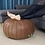 Thumbnail: CLASSY LEATHER OTTOMAN LIGHT CHOCOLATE CP2CH