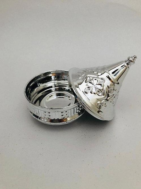 Small silver moroccan tagine decor