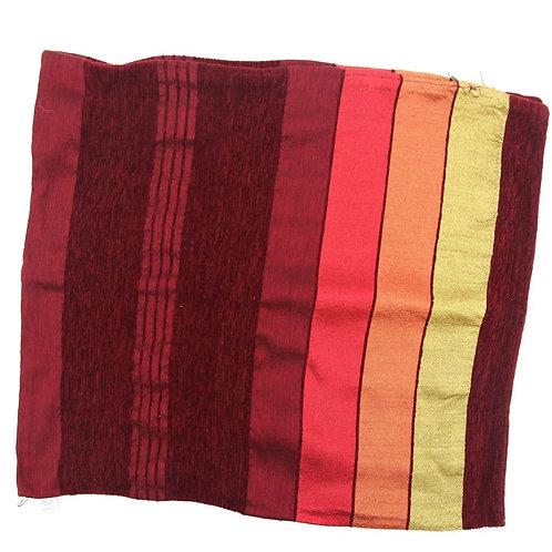 Floor cushion, pillow Burgundy orange yellow
