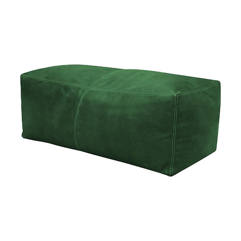GREEN LARGE SQUARE/RECTANGULAR LUXURY LEATHER OTTOMAN LSP1GN