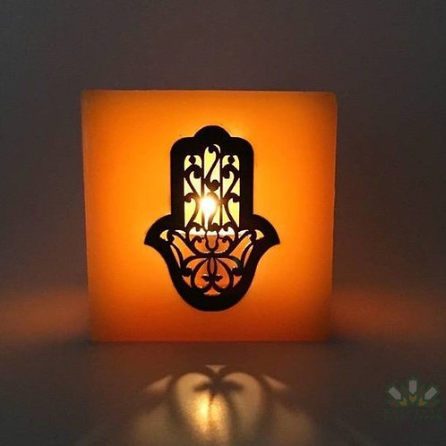Moroccan Candle Holder Yellow