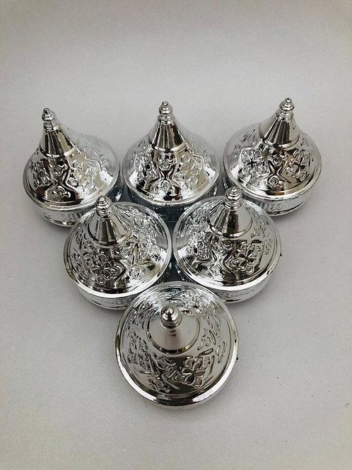 Set of small Silver moroccan tagines decor