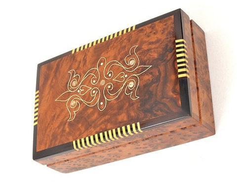 Hand-carved Jewelry Box, Jewelry Chest, Wooden Memory Box, Moroccan Handmade