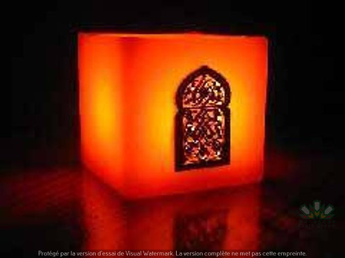 Moroccan Candle Holder Orange