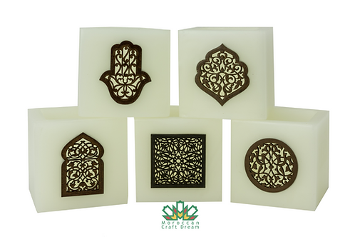 Moroccan Candle Holder White