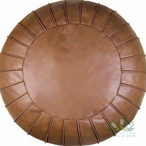 CLASSY LEATHER OTTOMAN LIGHT CHOCOLATE CP2CH