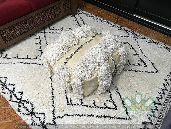 Berber Kilim Pouf 100/% Wool and Cotton Handwoven K162