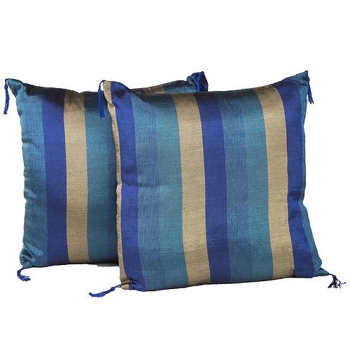 Indigo & Gold Pillow Pair