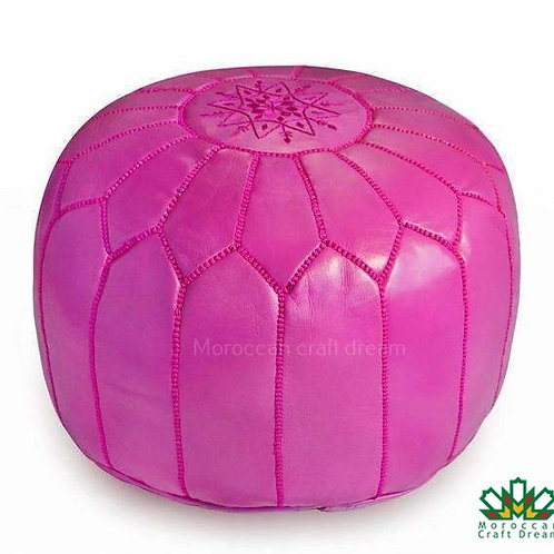 LUXURY LEATHER OTTOMAN PINK RP1PI