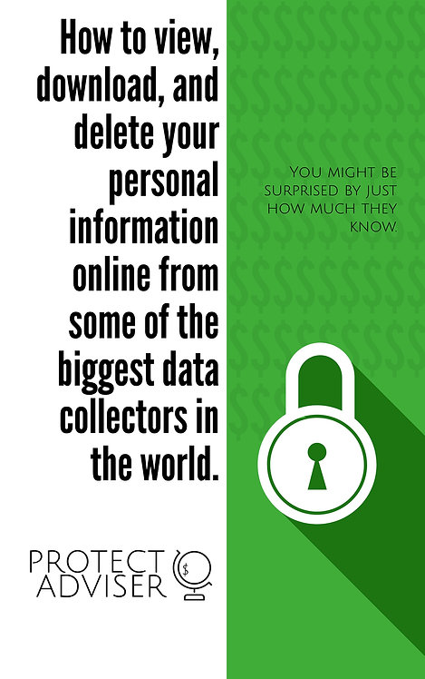 PROTECT ADVISOR - Protect YOUR data on the internet