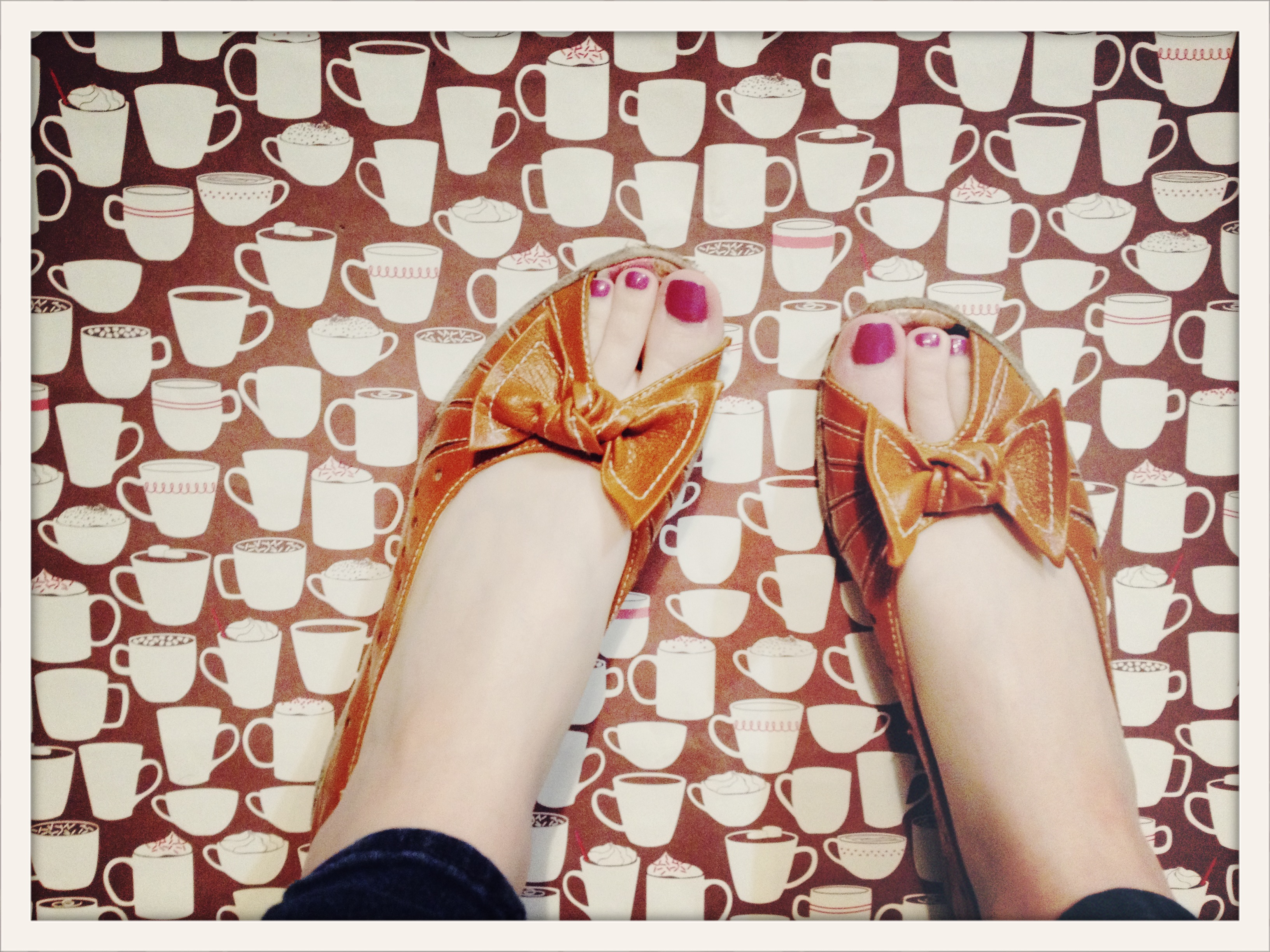 warm sandals on winter cups