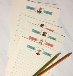 Woodland Baby Shower Gift List Pages
