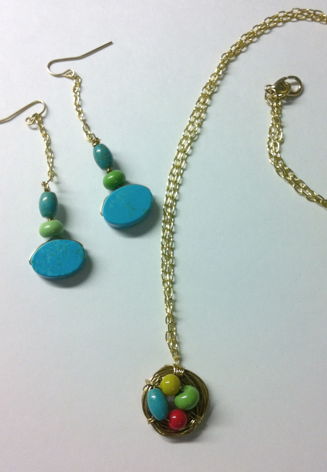 Nest Necklace & Earrings Set