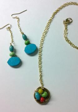 Nest Necklace & Earrings Set