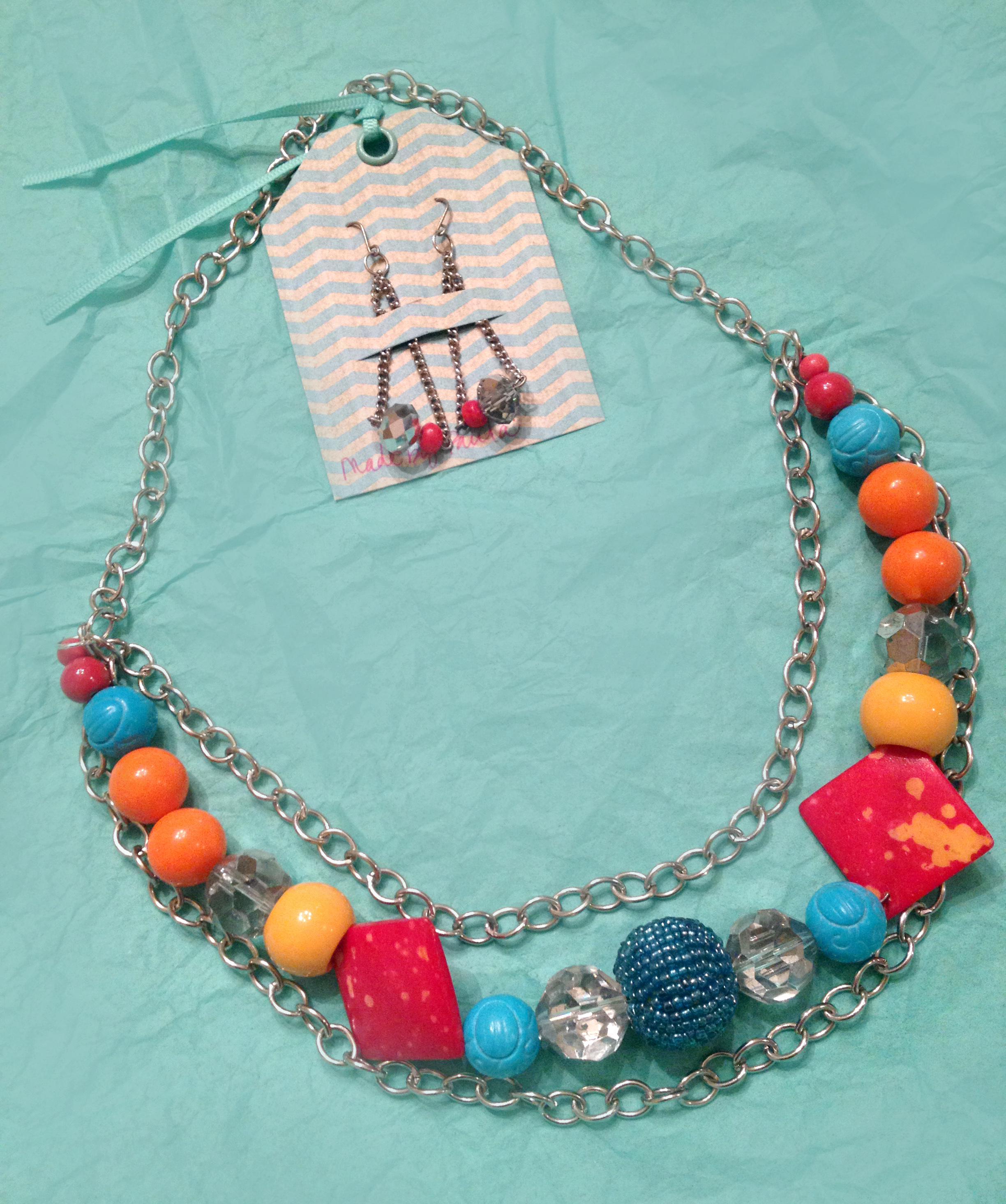 Chain Bauble Necklace & Earring Set