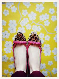leopard & cherry blossoms