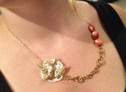Sparrow Collage Necklace
