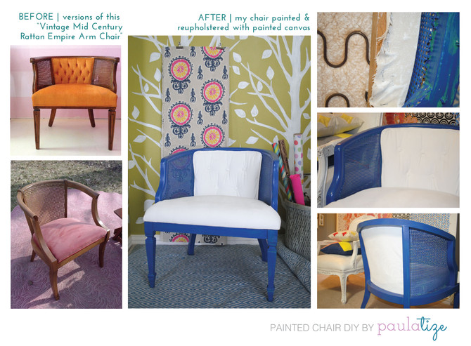 painted upholstery DIY