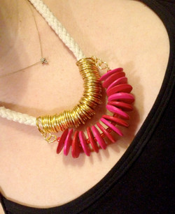 Rope & Disc Necklace