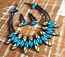 Tribal Bib Necklace & Earring Set