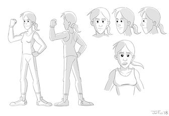 Athletic Girl Character Design Final