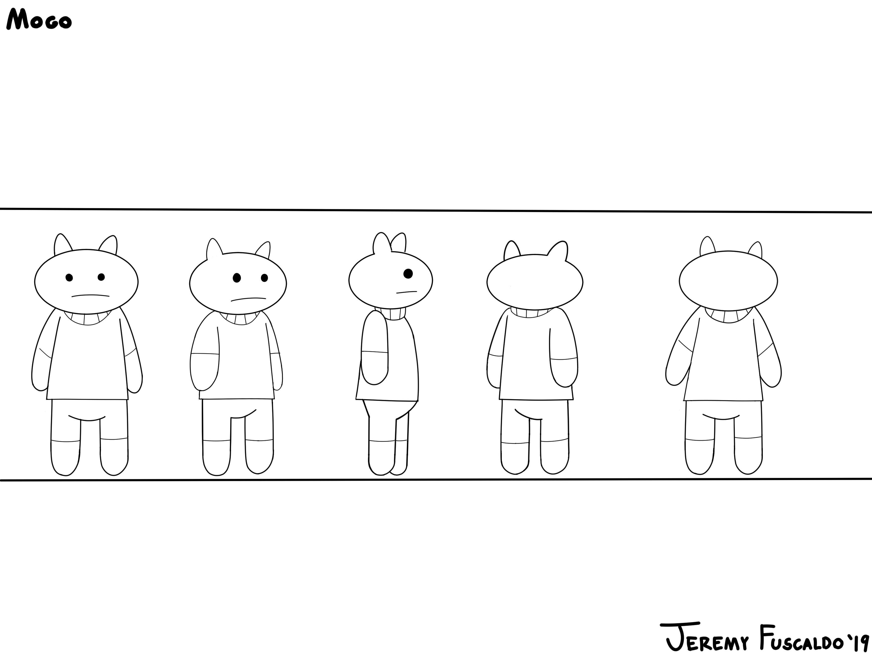 Character Design Mogo #1 BW