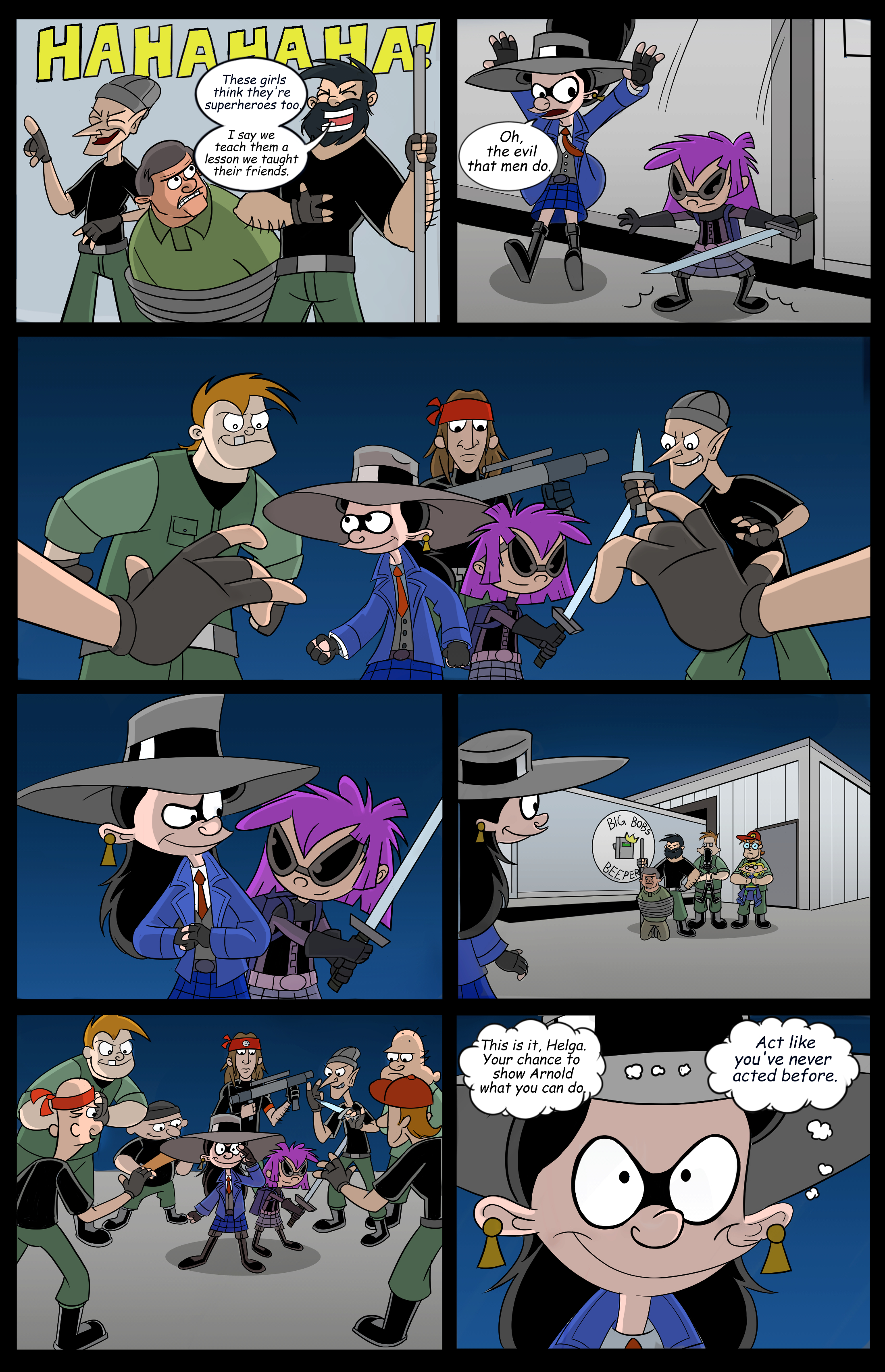 Hey Arnold! Superhero page 13