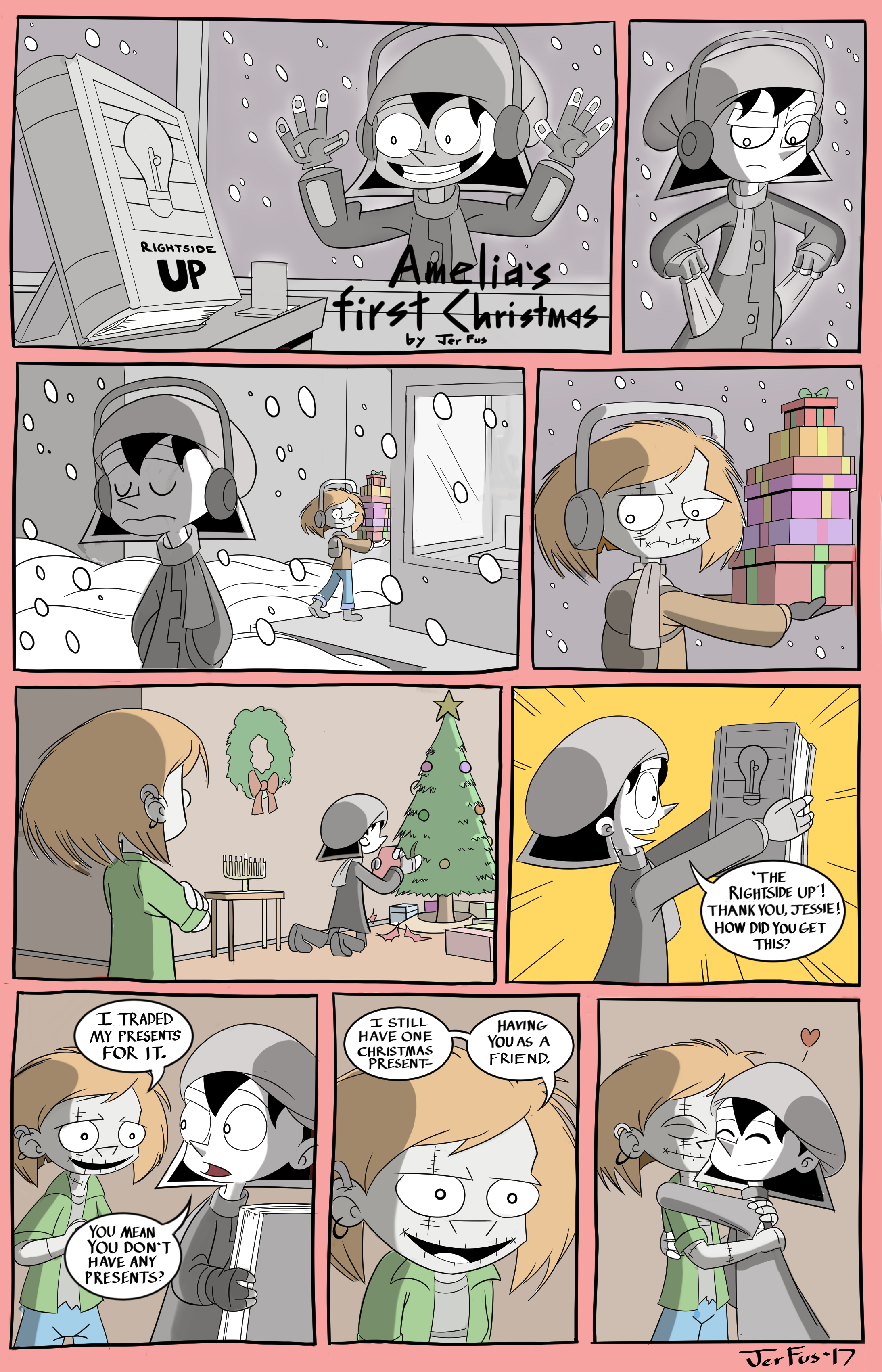 Amelia Enmity Christmas webcomic