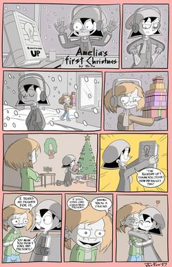 Amelia Enmity Christmas webcomic