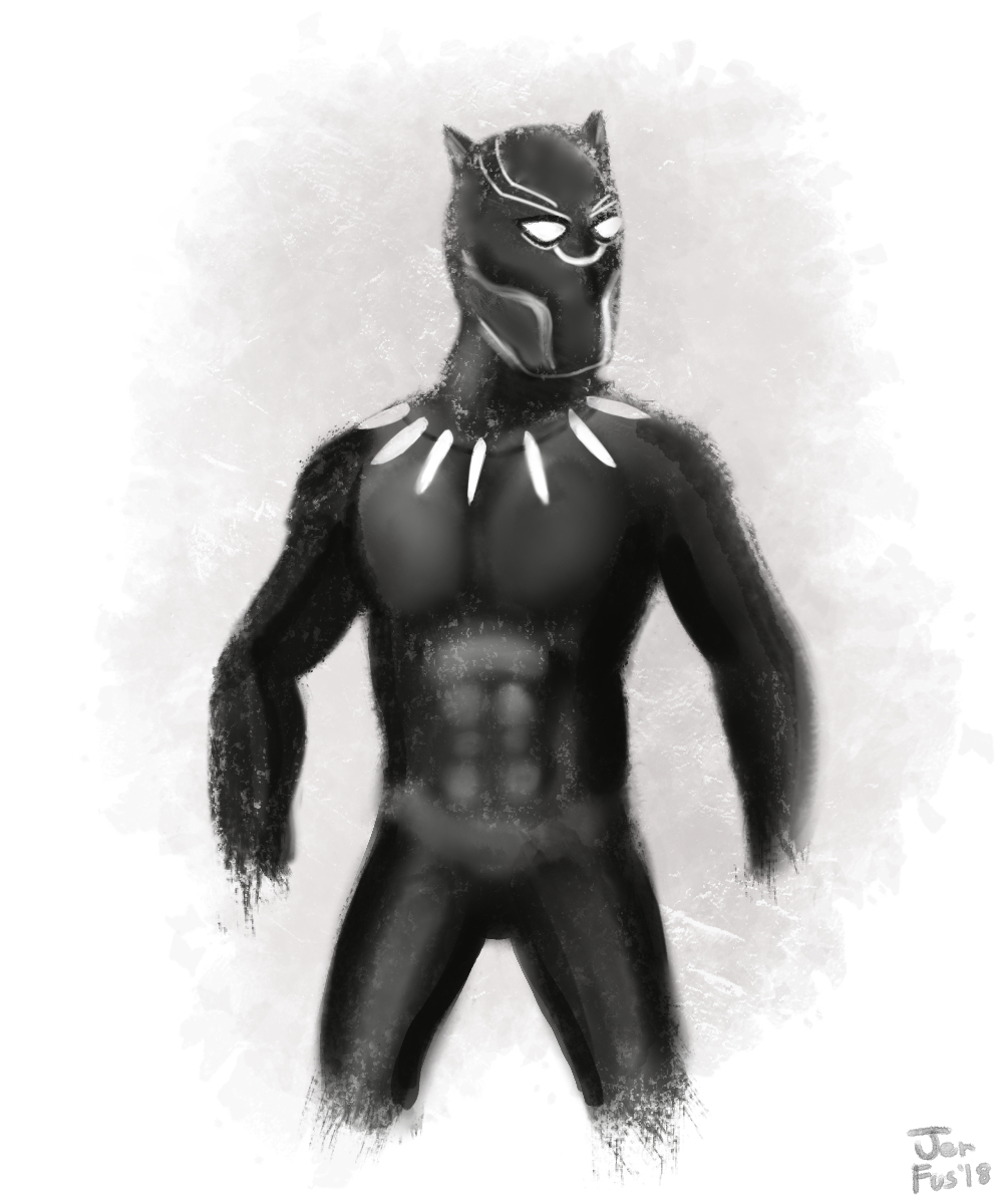 Black Panther Painting