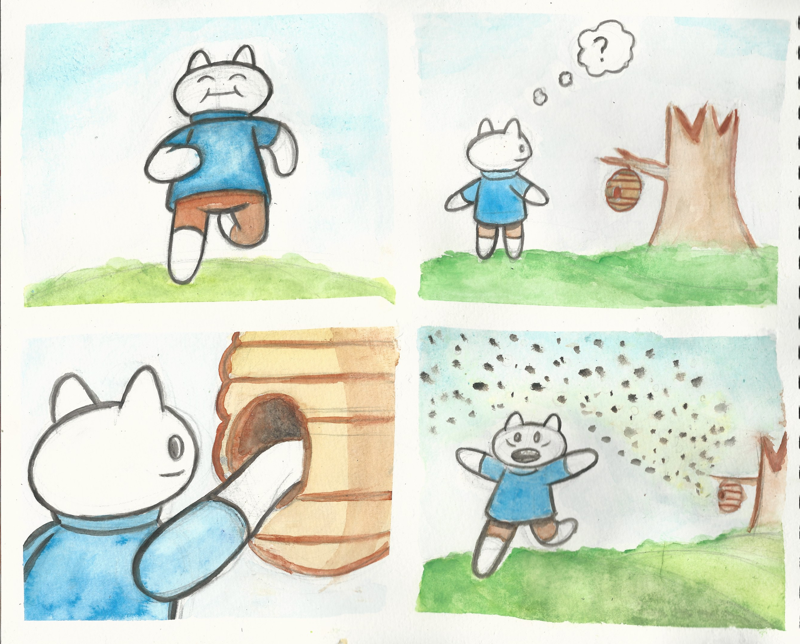 Watercolor comic compilation 4
