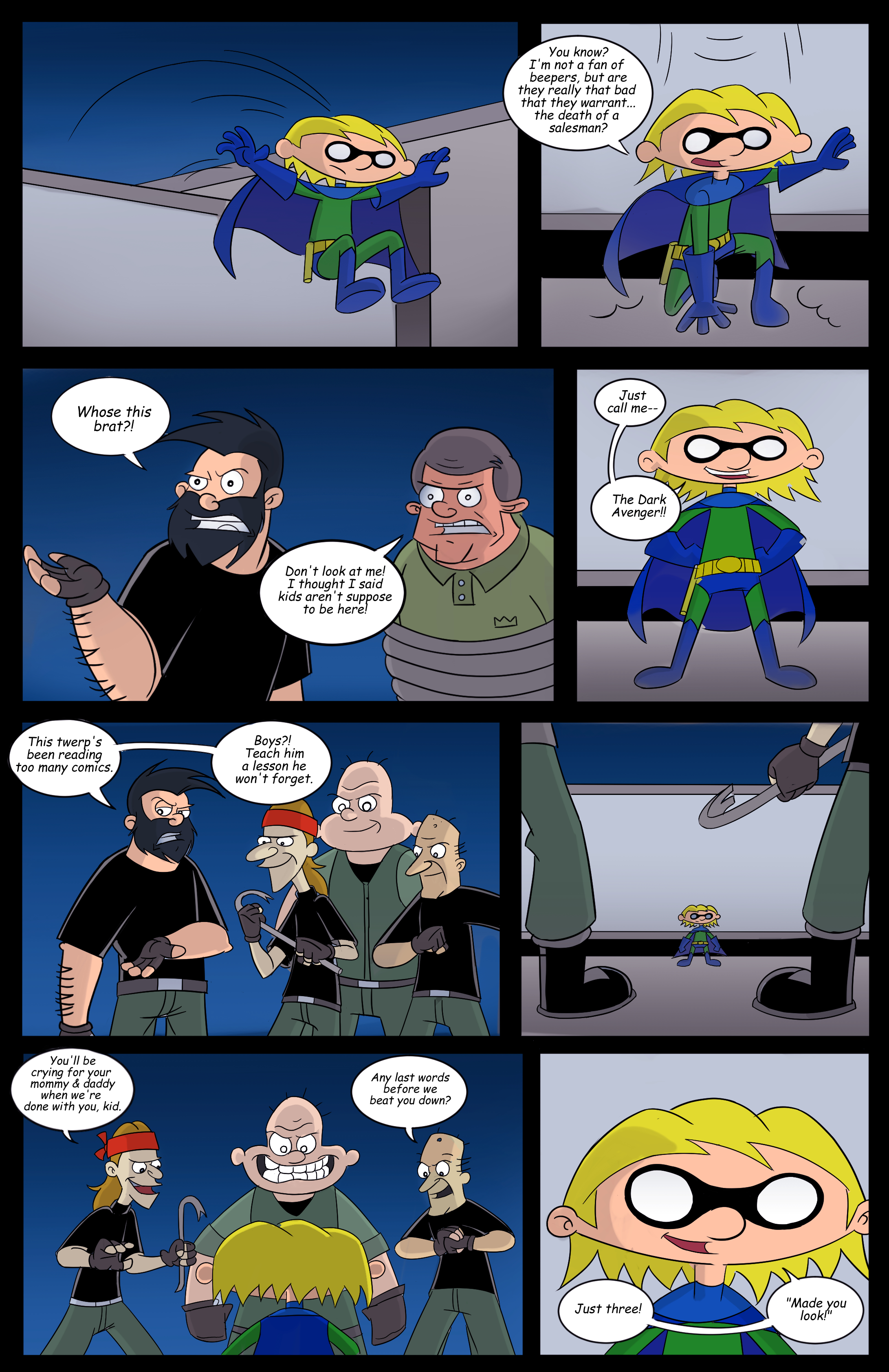 Hey Arnold! superhero page 5