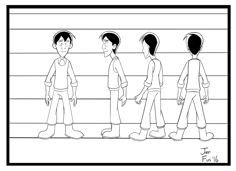 Ben Character Design #2 (inked)