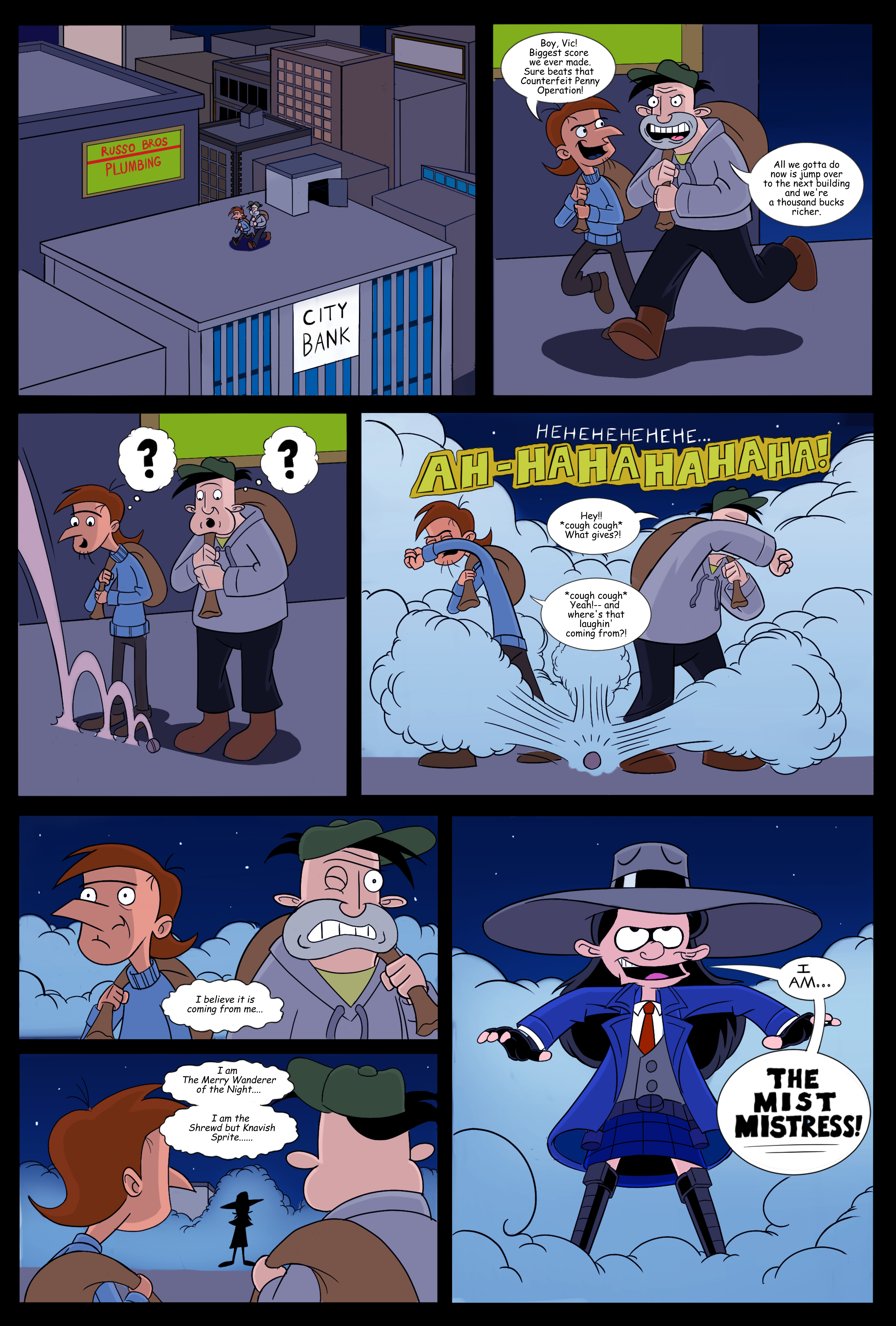 Hey Arnold! superhero comic (page 1)