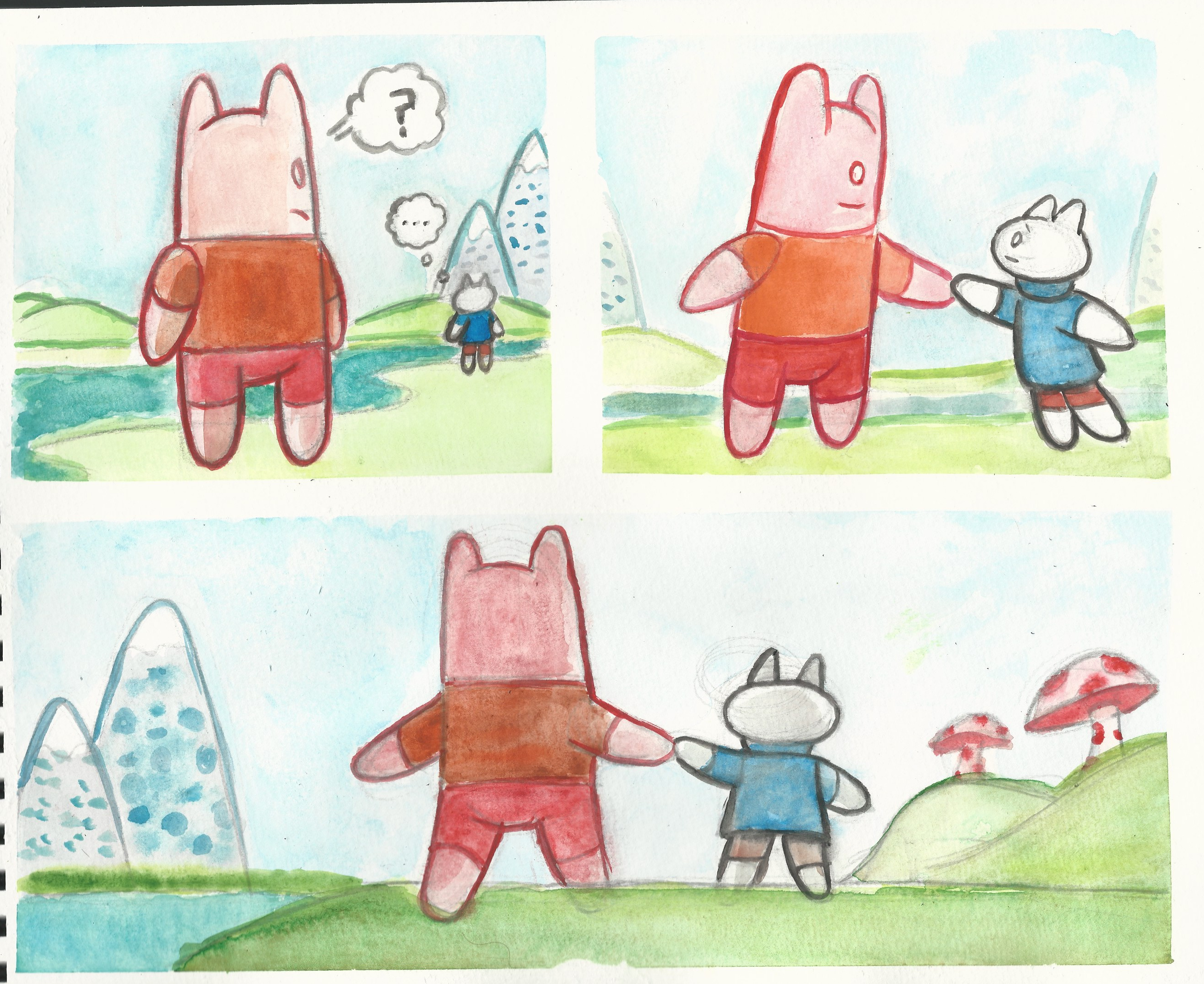 Watercolor comic compilation 7