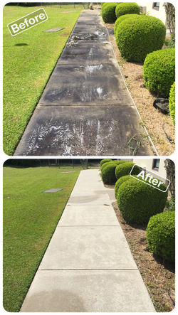 Comparison between before and after of a