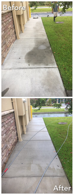 Concrete cleaning