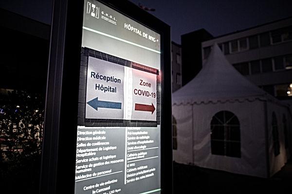L'entrée de l'hôpital de Nyon a été adap