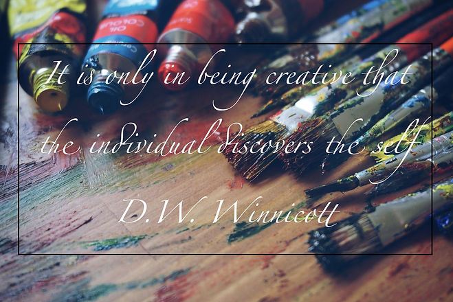 "Donald W Winnicott quote ""it is only in being creative that the individual discovers the self"""
