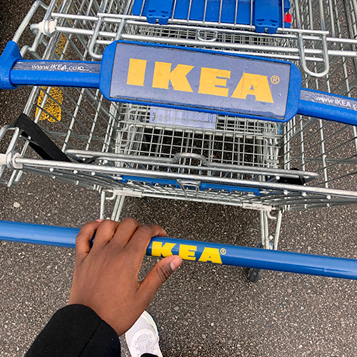 Photo of someone shopping at Ikea