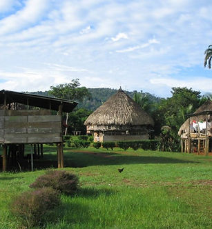 Wounaan village in Panama