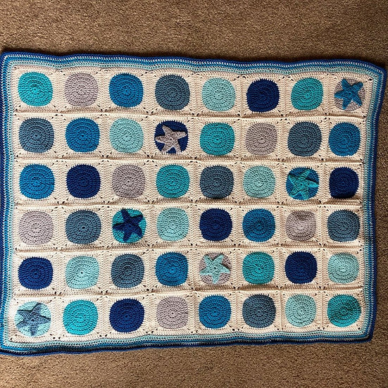 Rock Pools Blanket (Textiles)
